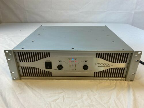 AMERICAN AUDIO V5000 PLUS POWER AMPLIFIER WORKING/TESTED