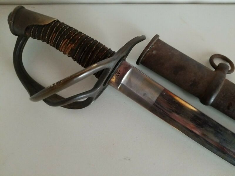 US Civil War S&K Model 1840 Heavy Cavalry Wristbreaker Sword w/Scabbard