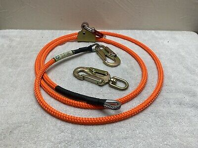 Climb Right 58 X 10 Steel Core Lanyard Kit Flip Line 75101 With Extras