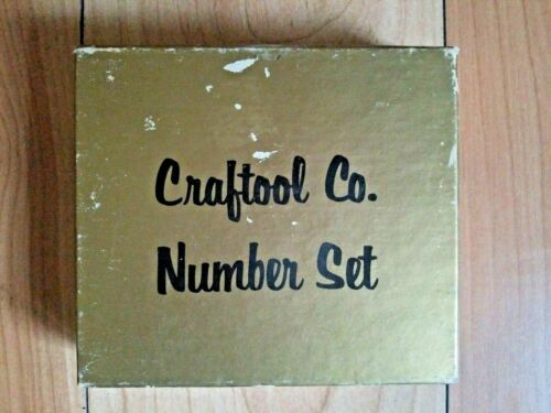 """Authentic Craftool Co Number 3/4"""" Stamp Set Leather Tools 8135 in Box COMPLETE"""