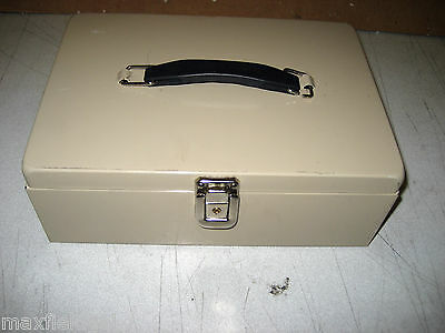 Used Mmf Cash Coin Box Portablelatch Closure-no Key See Choice Of One Below