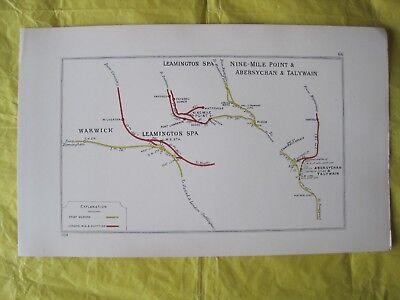 1928 RAILWAY CLEARING HOUSE Junc Diagram No.66 WARWICK,LEAMINGTON SPA/ TALYWAIN.