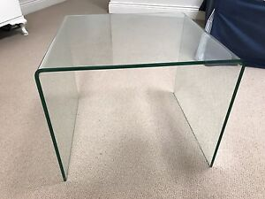 Pair of glass side tables Rose Bay Eastern Suburbs Preview