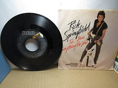 Everything 45 Rpm Records - Old 45 RPM Record - RCA PB-12166 - Rick Springfield I've Done Everything For You