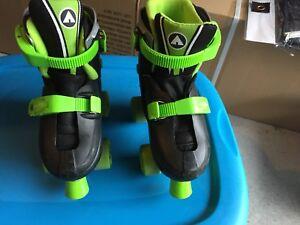 Ensemble de patins a roue alignées + protecteur