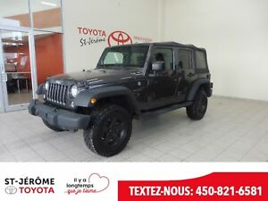 2016 Jeep WRANGLER UNLIMITED * Sport * MANUEL * A/C * MAGS * CRU