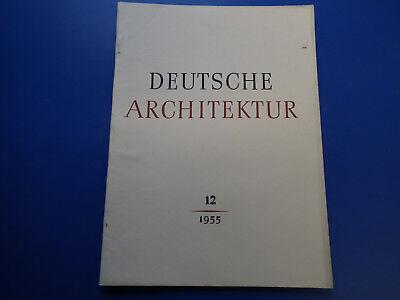 DDR Zeitschrift- Deutsche Architektur 12/1955-Prenzlauer Berg-Ludwigslust-Neubra