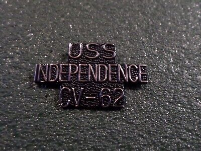 U.S MILITARY NAVY SHIP USS INDEPENDENCE CV-62 HAT LAPEL PIN CLUTCH BACK