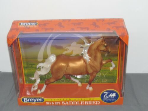 Breyer Horse 70th Anniversary SADDLEBRED Palomino LE #1825 NIB Hamilton SHARP!