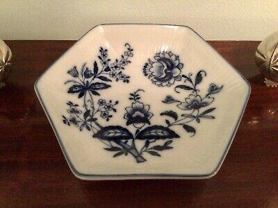 Vista Alegre Portugal Margao Blue & White Porcelain Olive Dish Bowl Giftware...