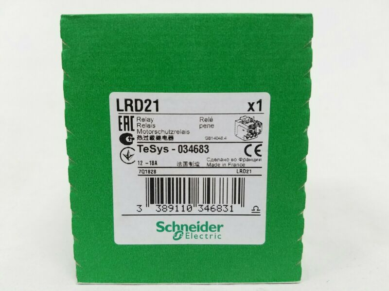 Schneider TeSys LRD21 Thermal Overload Relay 12 to 18 A Class 10A New