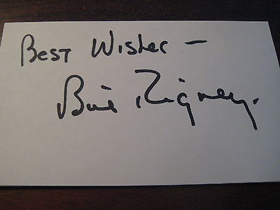 BILL RIGNEY SIGNED Autograph 3 x 5; Baseball Manager & Player; NY Giants+