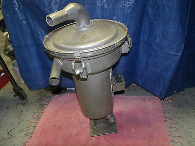 """Plastic injection molding machine hopper vacuum loader stainless 14"""" dia.24""""Tall"""