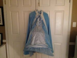 Blue halloween costume with cape