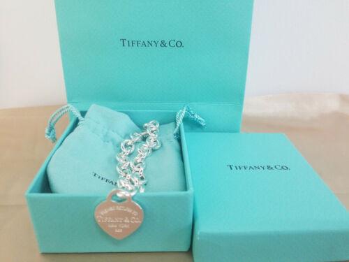 Tiffany Return to Tiffany & Co. Heart Tag Charm Bracelet 925 Sterling Silver