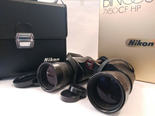 with BOX [Near MINT in Case] Nikon Binoculars 7x50 7.3° Tropical IF HP  JAPAN