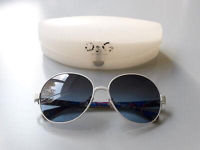 DOLCE&GABBANA DG4155 - original D&G Sonnenbrille Metall weiß/blaues Verlaufglas