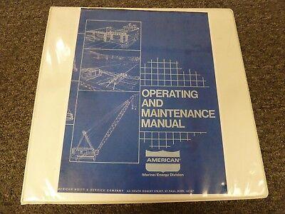 American 8470 Truck Crane Owner Operator Parts Service Maintenance Manual