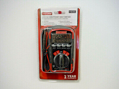 Brand New Craftsman Mini Pocket Multimeter With Auto Ranging 82351 34-82351
