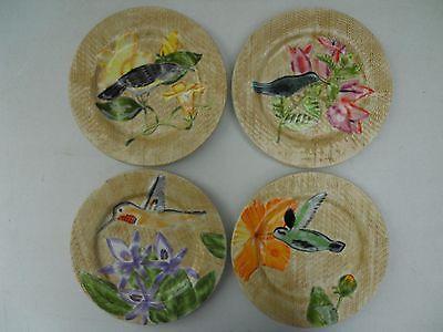 American Atelier Jungle Bird Plates(4) 5164 8 1/2 in. Excellent!