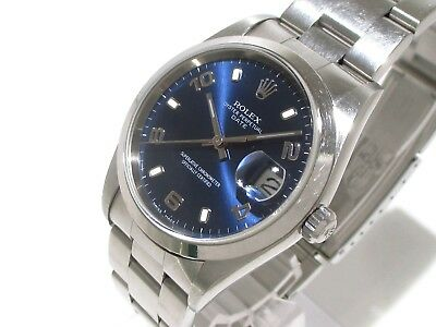 Auth ROLEX Oyster Perpetual Date 15200 Silver Men