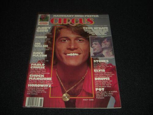 Andy Gibb  Rolling Stones   Original 1978 August Circus Magazine