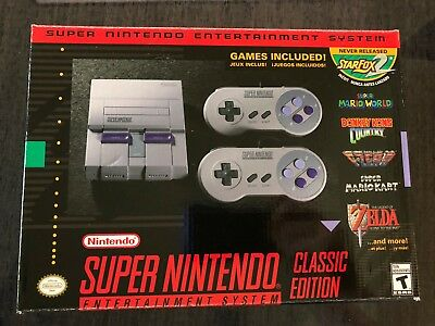 Authentic SNES Super Nintendo Classic Mini Super Entertainment System 21 Games
