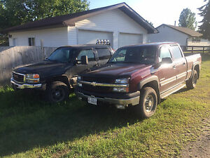 Chevy 1500hd 4x4 Gmc 1500hd 4x4 first 3000$ takes both