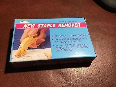 Welters Staple Remover. Brand New Perfect No Tearing Paper Document