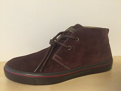 NEW Gucci Men's Brown Suede Leather Lace Up High Tops 7 G / 8 US