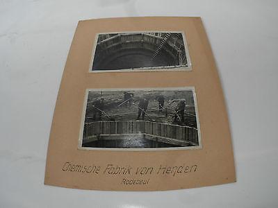 altes Foto Brunnenbau Dresden Radebeul chemische Fabrik von Henden