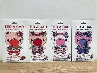 Lavender Car - Cute TED A CAR Air Freshener - Rose, Lily, Lavender and Blossom Scents