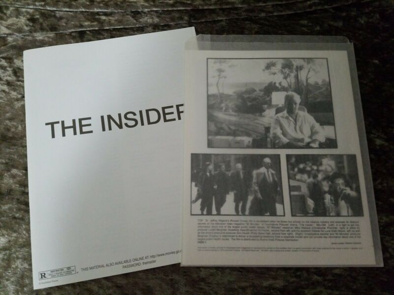 The Insider press kit - Russell Crowe, Al Pacino