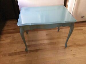 Blue green single side coffee table