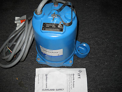 Goulds Pumps We0534h Submersible Effluent Pump 12 Hp 460v New Condition No Box