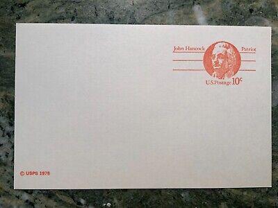 Vintage 10 Cent Postcard  John Hancock Patriot U.S. Postage unused Lot 4 clean