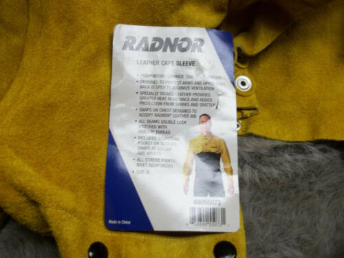 Radnor Leather Cape Sleeve (Arc Welding) Size XL