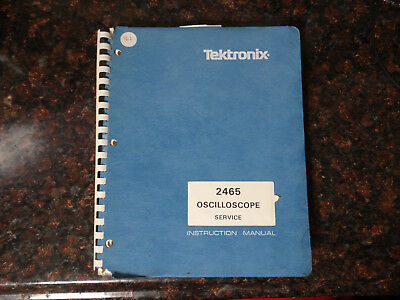 Tektronix 2465 Instruction Manual