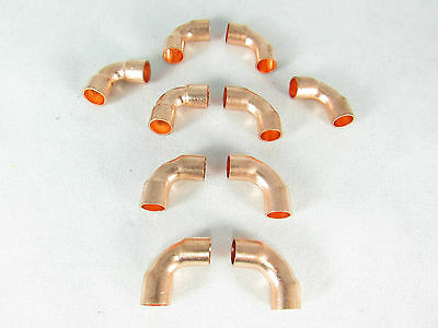 Copper Elbow 14 Id 90 Deg-short Radius Ac And Refrigeration Lines 10 Pc