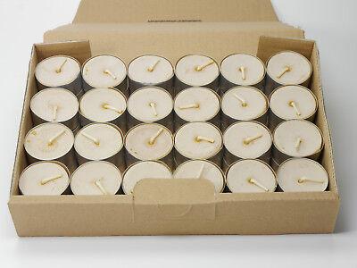 Naturreine Bienenwachs Teelichte, 48 Stück, handgefertigt direkt vom Imker