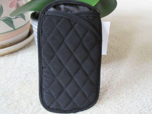 Vera Bradley Classic Black Double Eyeglass/Sunglass Soft Pouch Case NWT