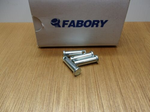 """(Qty.4) 3/8"""" X 1-3/8"""" Clevis Pin Zinc Plated 1010 Steel 1"""" Usable Length"""