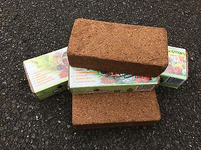 - 15 x 10L Coir Block Coco Coir Peat Pure Coir Blocks Bargain Price Brick Bricks