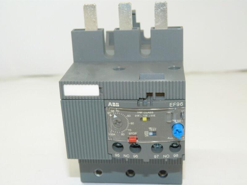 ABB EF96-100 Electronic Overload Relay 36-100A NEW 1yr Warranty