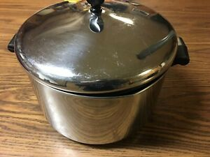 Farberware 8 Qt Stock Pot Stainless Steel Aluminum Clad Pan With Lid