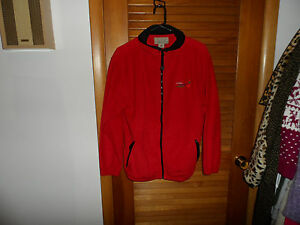 Red-fleece-zip-front-jacket-size-Small-from-Colorado-Timberline