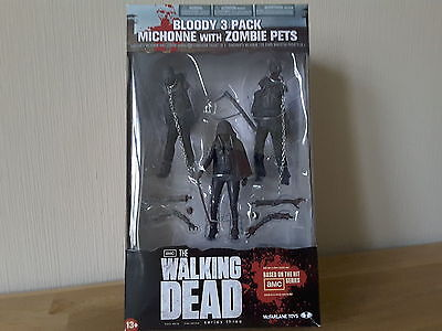 Actionfigur The Walking Dead Figur Serie 3 Michonne Pet 1 2 bloody black rare