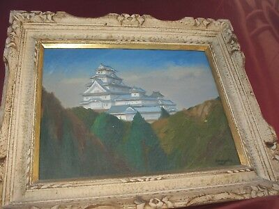 VINTAGE JAPANESE PAINTING  WITH ORGINAL FRAME MAKE AN OFFER