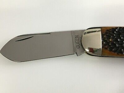 Queen Cutlery Queen City #101 Catalina Jigged Bone Large Sunfish Pocket Knife