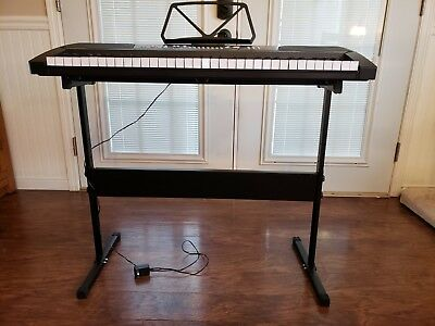 61 Key Music Digital Electronic Keyboard Electric Piano Organ with Stand Black